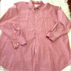626 Blue striped pink 2Xl men's button down shirt